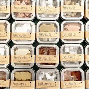 50 mini soaps in tin favors